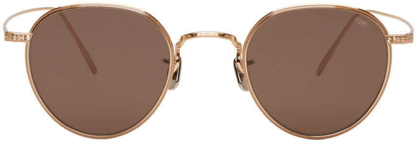 Eyevan 7285 Gold Model 539 Sunglasses