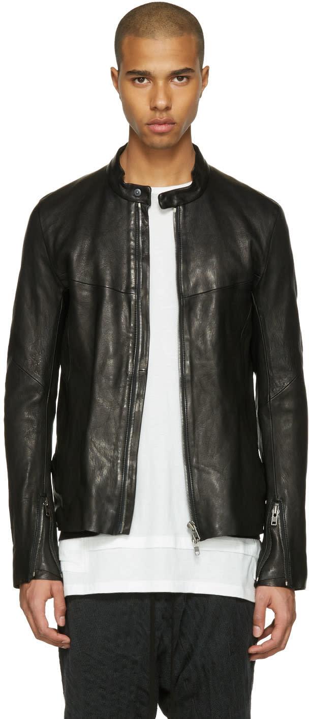 The Viridi-anne Black Leather Jacket
