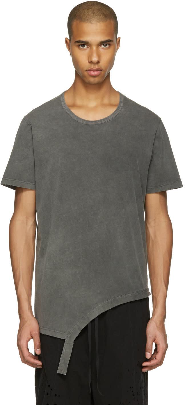 The Viridi-anne Grey Asymmetric T-shirt