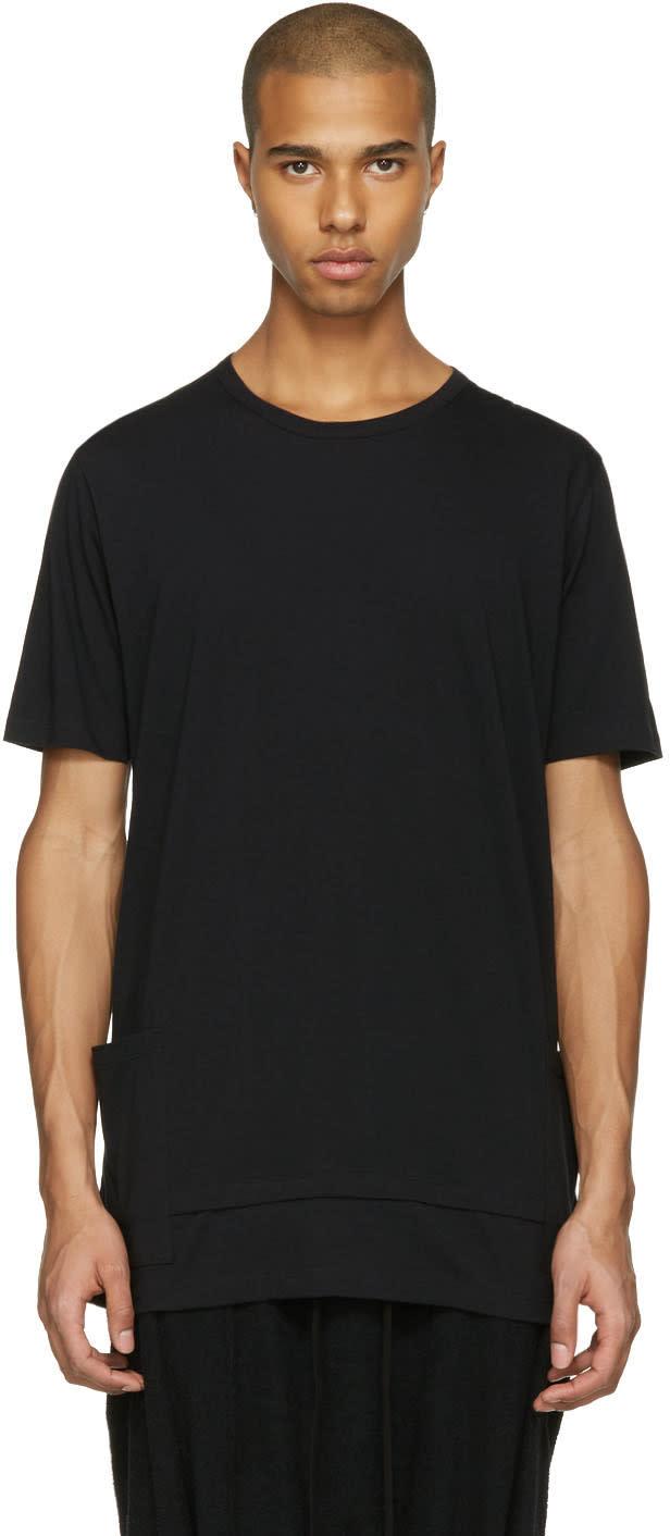 The Viridi-anne Black Layered Pocket T-shirt