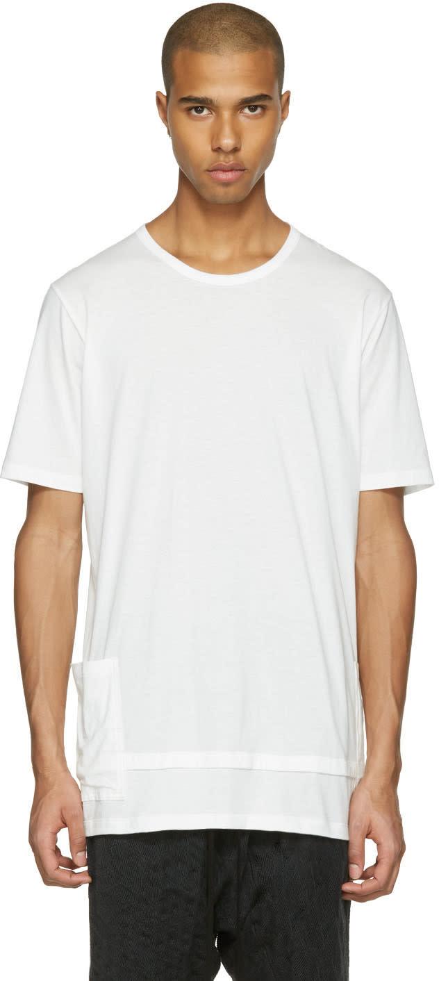 The Viridi-anne White Layered Pocket T-shirt