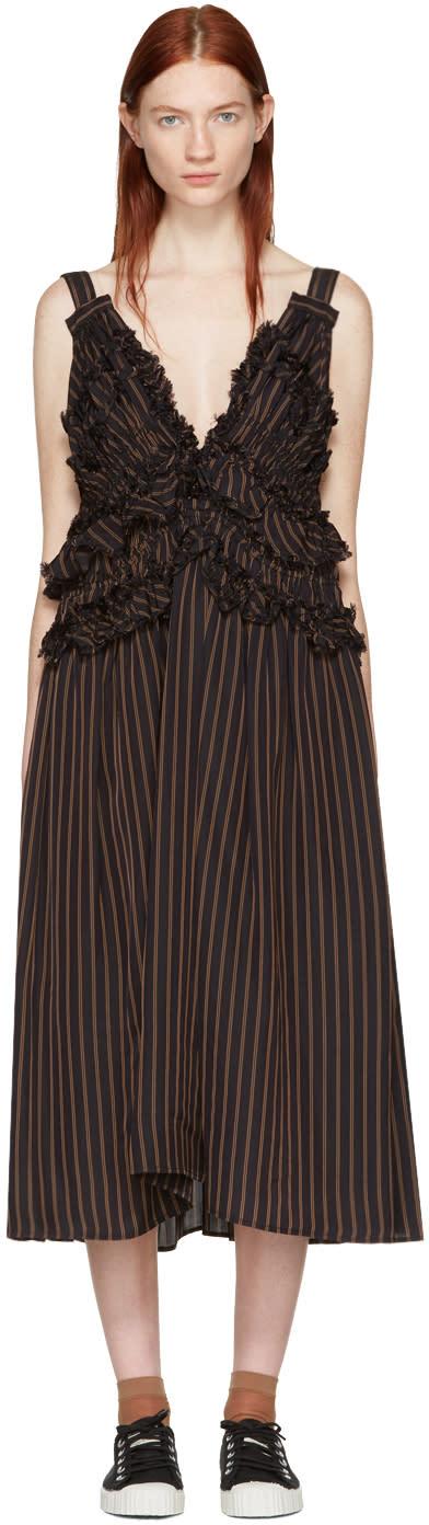 Chika Kisada Navy Striped Dress