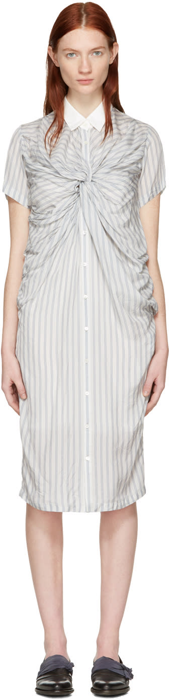 Chika Kisada Off-white Striped Twist Dress
