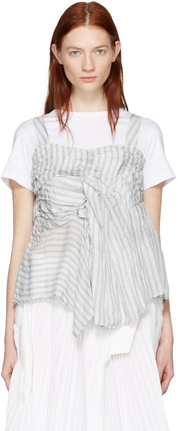 Chika Kisada White Ruched T-shirt