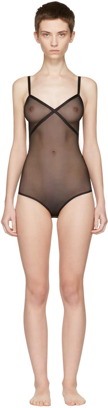 Le Petit Trou Black Fabienne Bodysuit