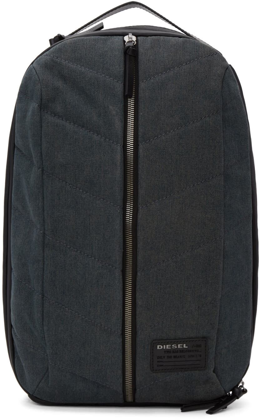 Image of Diesel Black and Indigo D-v-denim Backpack