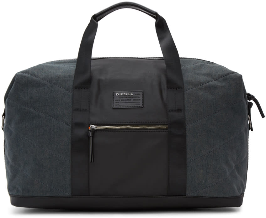 Image of Diesel Black and Indigo D-v-denim Duffle Bag