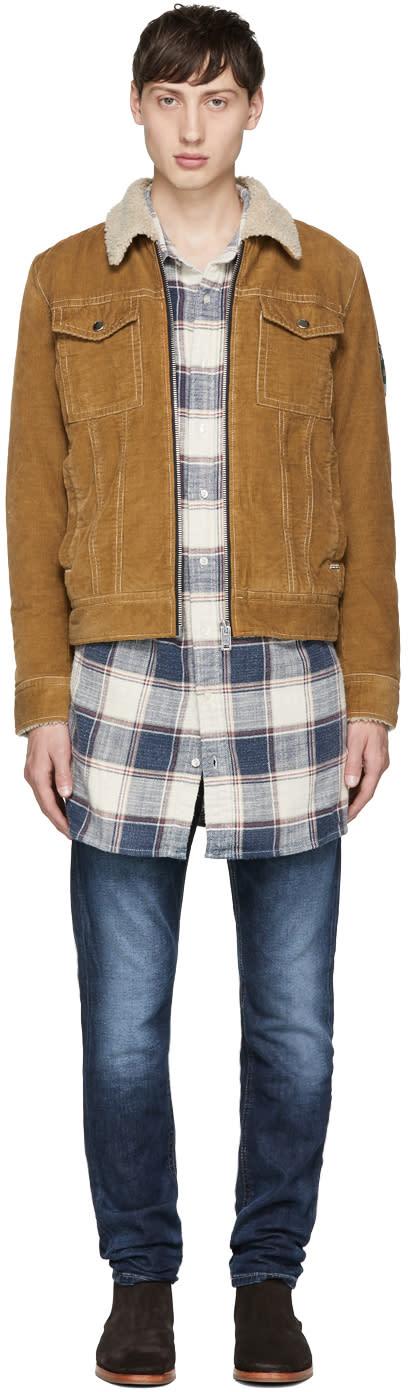 Image of Diesel Beige Corduroy W-halsey Jacket