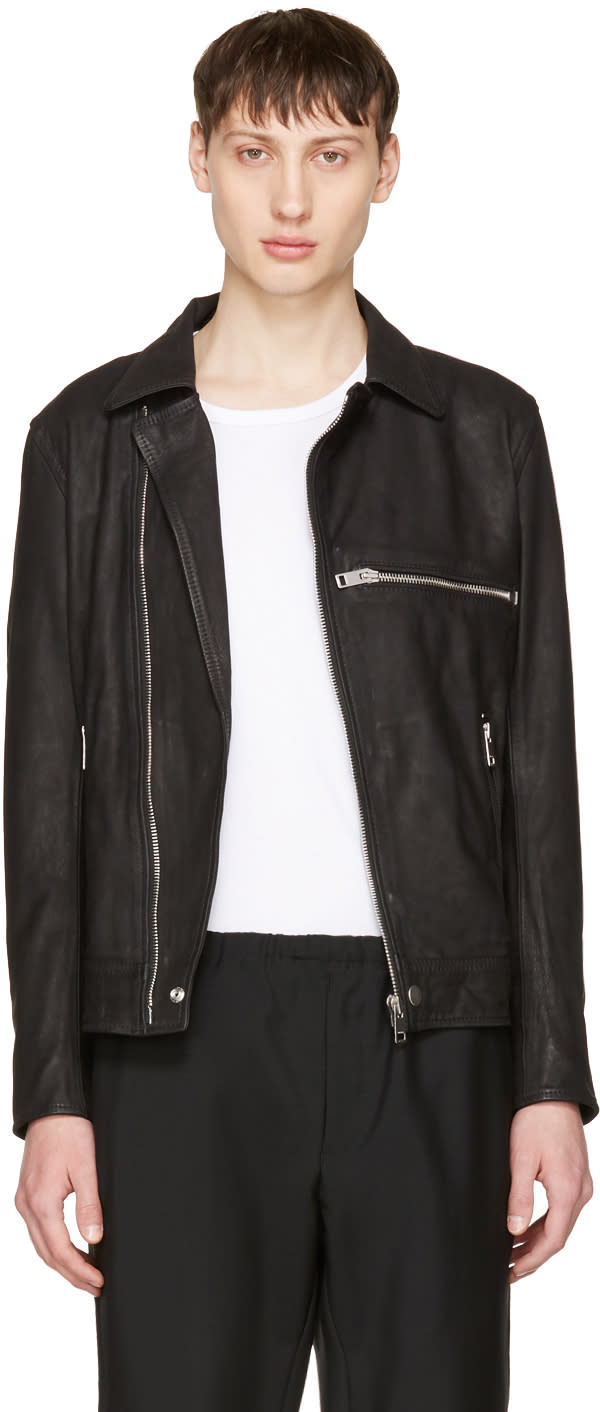 Diesel Black Leather L-hater Jacket