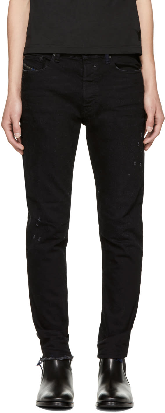 Image of Diesel Black and Navy Jifer Jeans