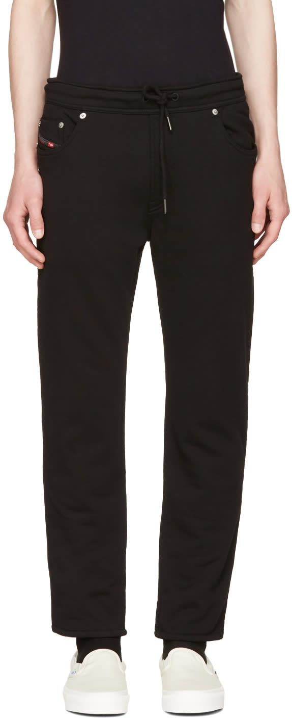 Diesel Black Jiffery-sw Lounge Pants