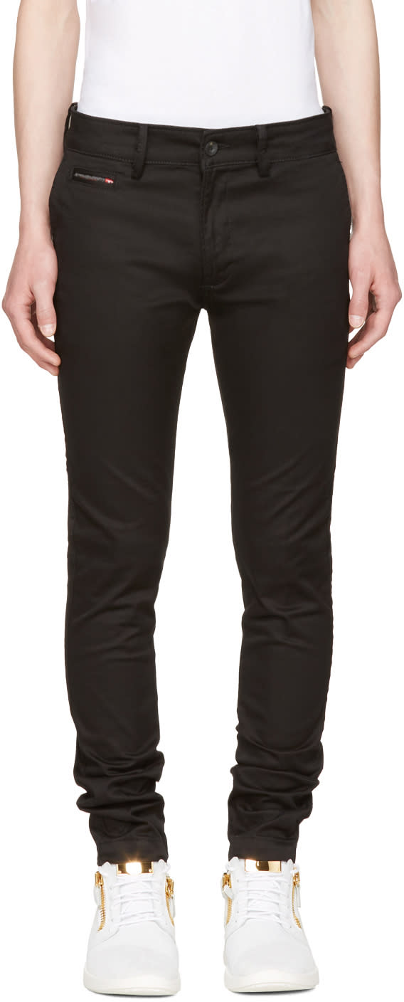 Diesel Black Chi-shaped Trousers