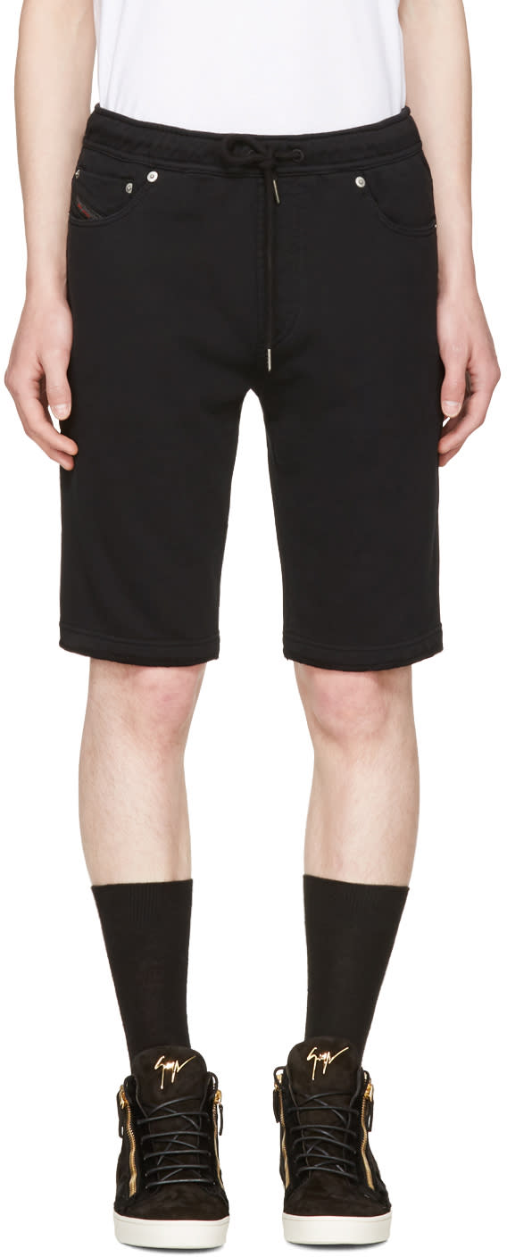 Diesel Black Jiffery-sho-sw Shorts
