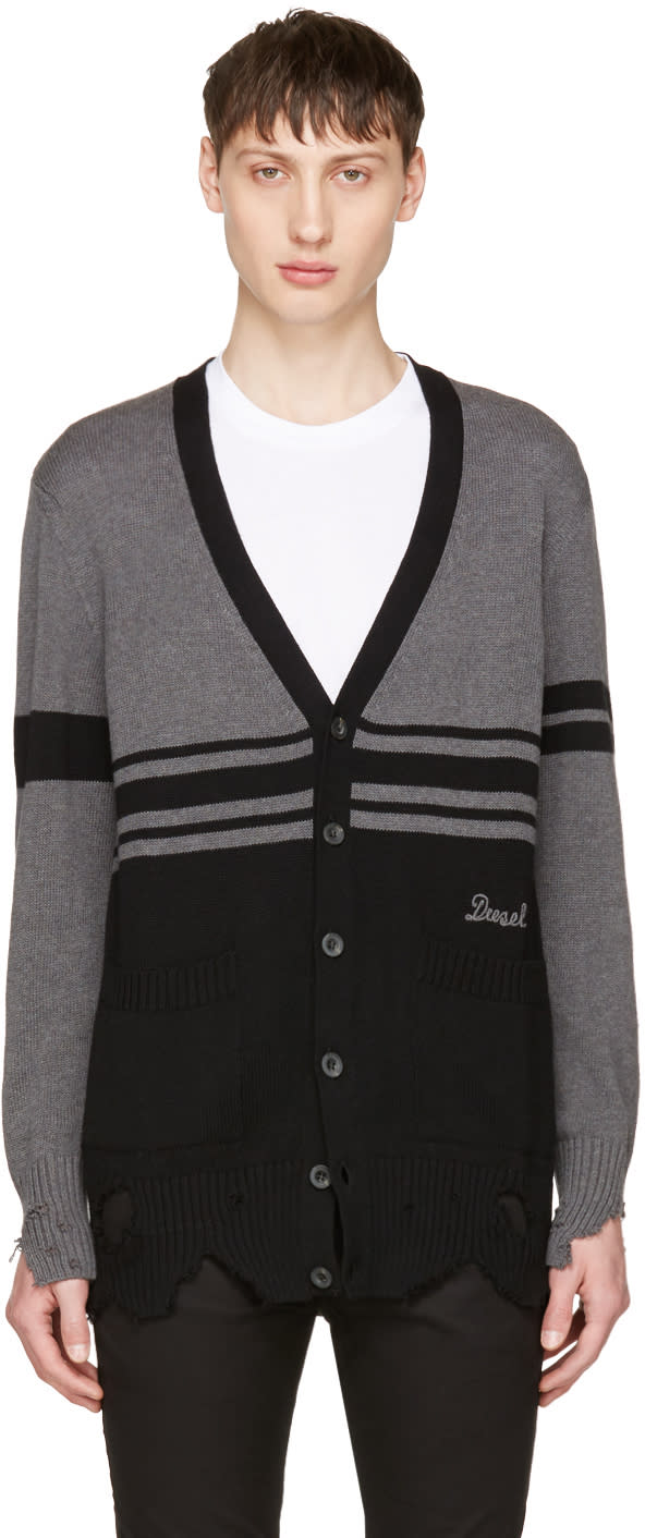 Diesel Black and Grey K-obain Cardigan