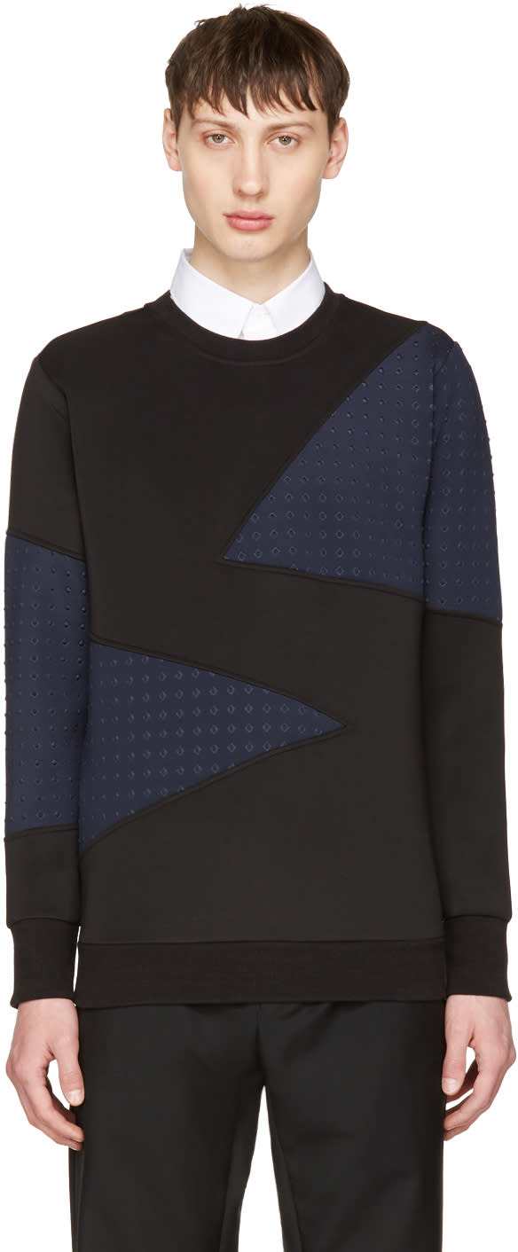 Image of Diesel Black and Navy S-barbet Sweatshirt