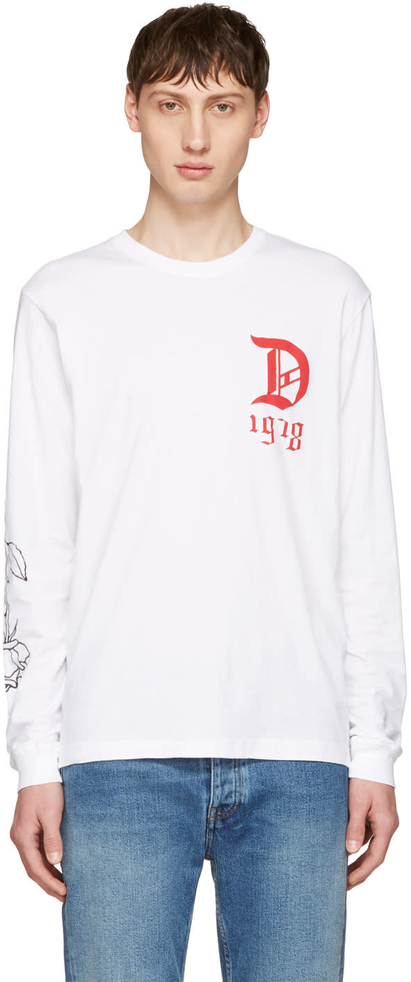 Diesel White T-joe-ls-qa T-shirt