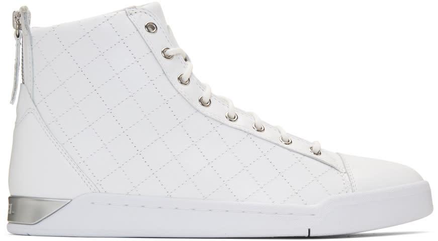 Diesel White Diamond High-top Sneakers