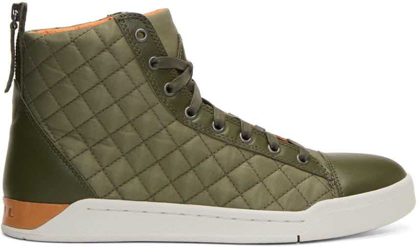 Diesel Green Diamond High-top Sneakers