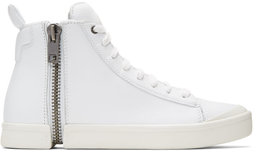 Diesel White S-nentish High-top Sneakers