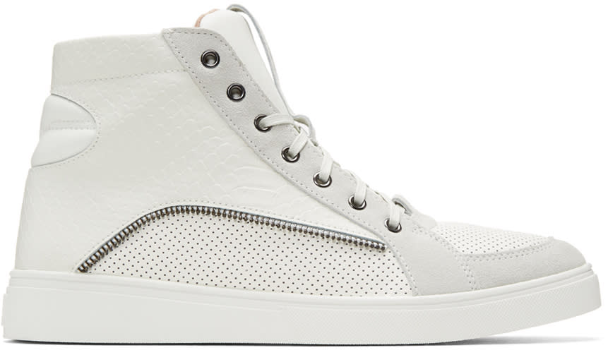 Diesel Off-white S-vip High-top Sneakers