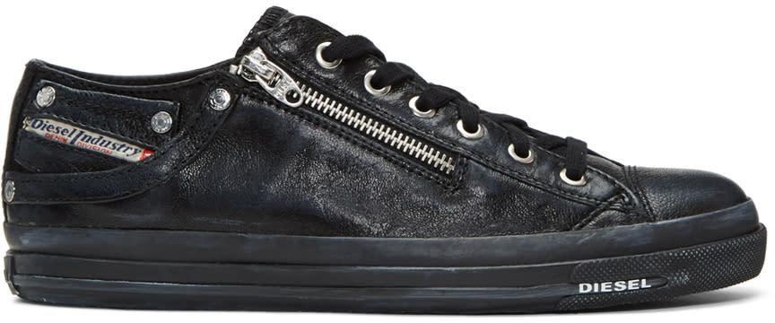 Diesel Black Expo-zip Low Sneakers