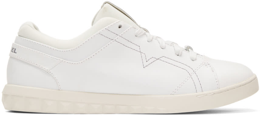 Diesel White S-studdzy Lace Sneakers