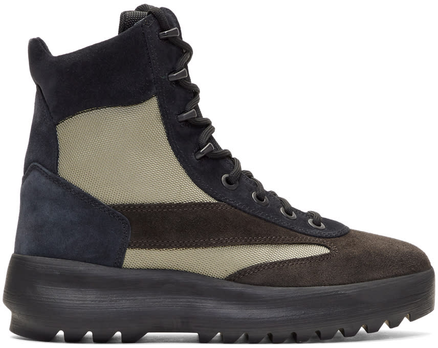 Image of Yeezy Black and Beige Military Boots
