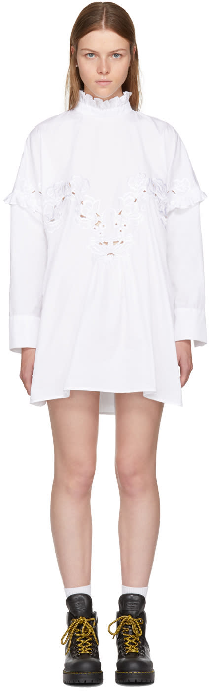 Image of Cecilie Bahnsen White Nell Dress