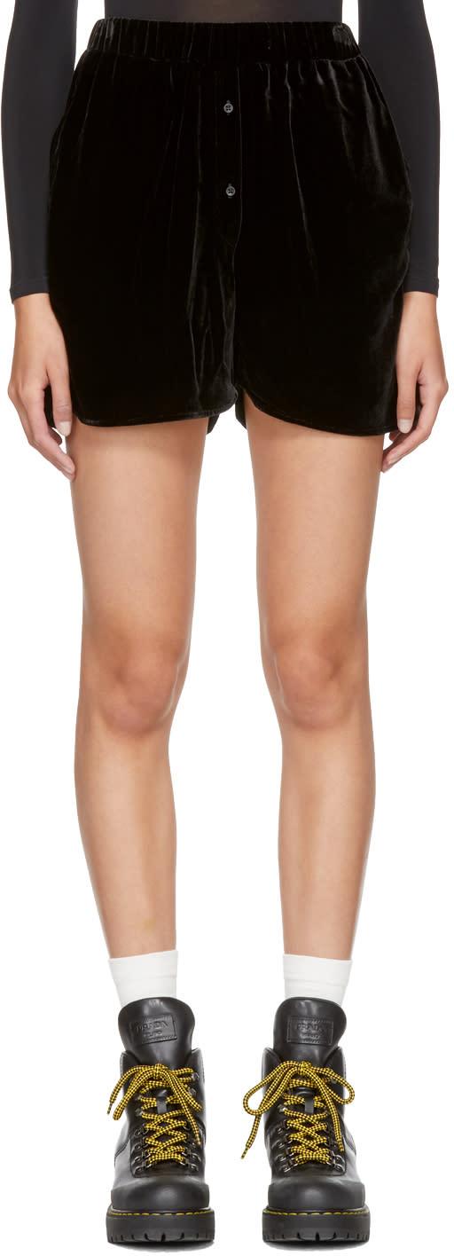Image of Cecilie Bahnsen Ssense Exclusive Black Velvet Shorts