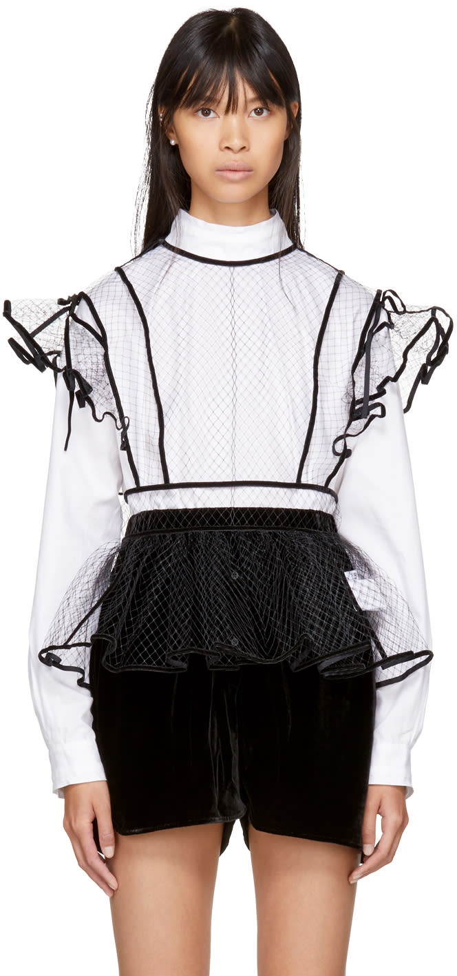 Image of Cecilie Bahnsen Black Olly Blouse
