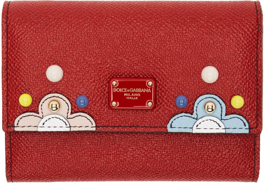 Dolce and Gabbana Red Small Flap Wallet