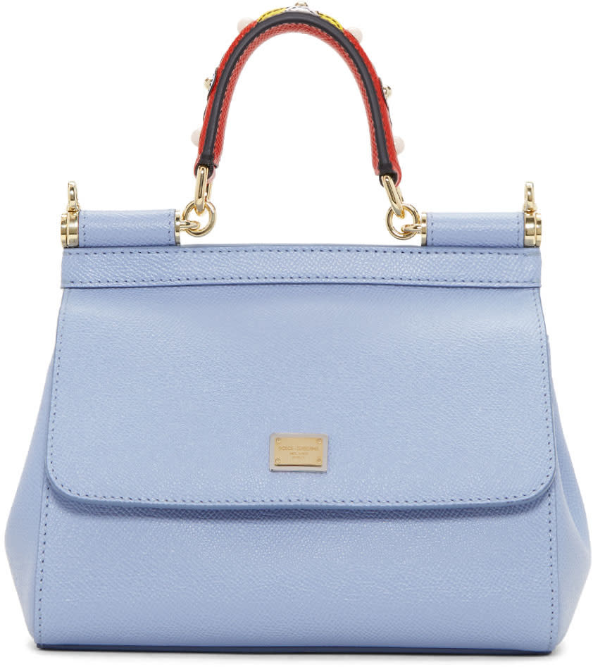 Dolce and Gabbana Blue Mini Miss Sicily Bag