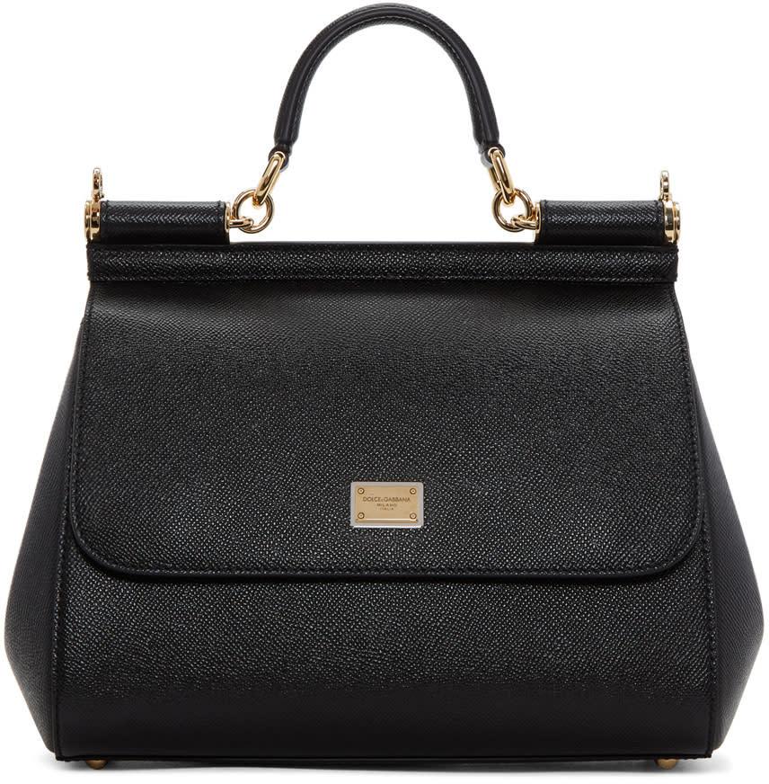 Dolce and Gabbana Black Medium Miss Sicily Bag