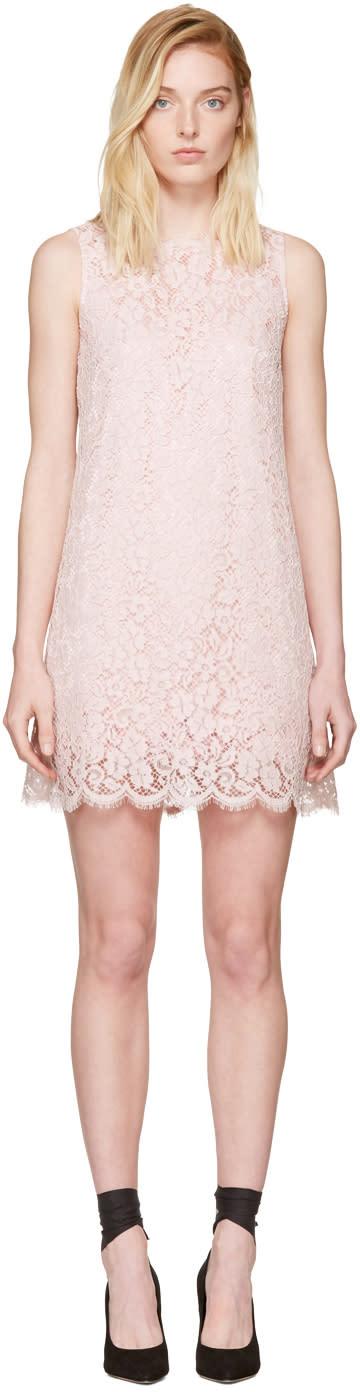 Dolce and Gabbana Pink Lace Shift Dress
