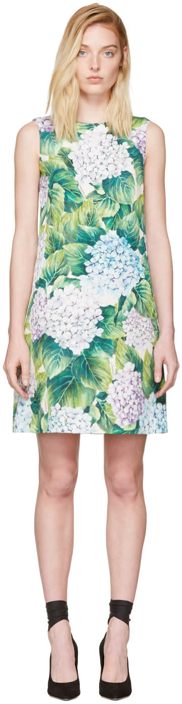 Dolce and Gabbana Multicolor Floral Shift Dress