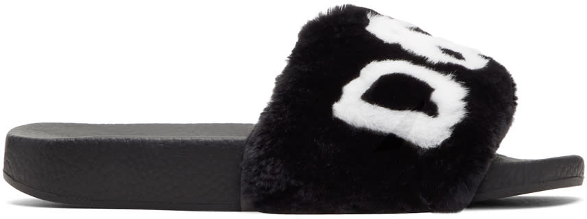 Image of Dolce and Gabbana Black and White Fur Logo Slides