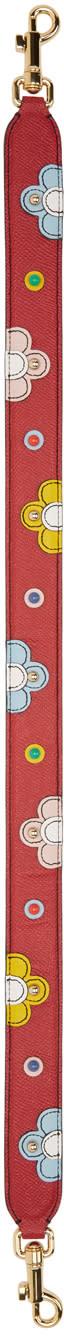 Dolce and Gabbana Red Short Colorblock Shoulder Strap