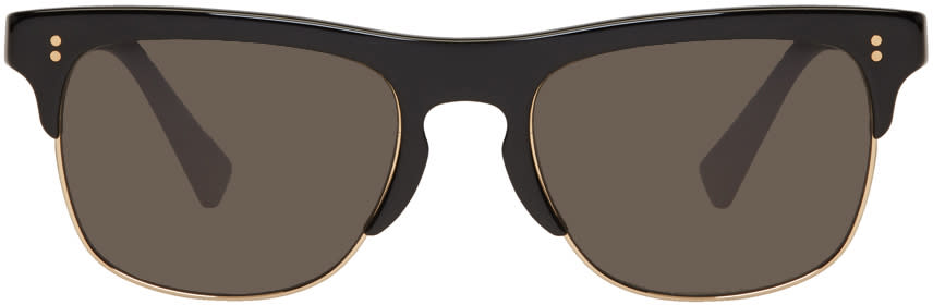 Dolce and Gabbana Black Semi-rimless Sunglasses
