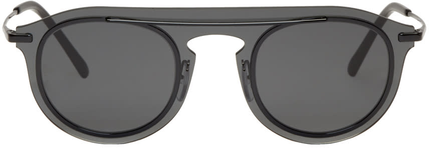 Dolce and Gabbana Black Single Lens Sunglasses
