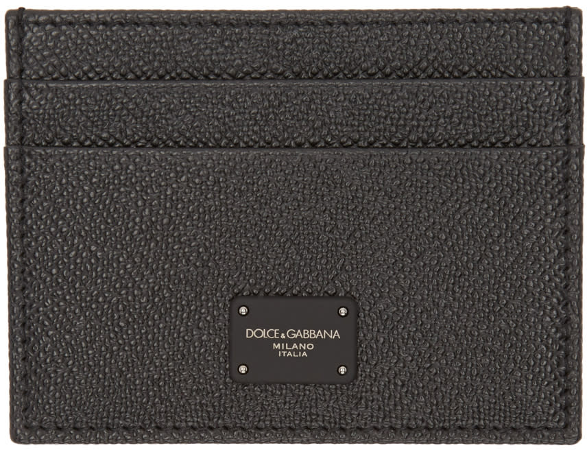 Dolce and Gabbana Black Leather Cardholder
