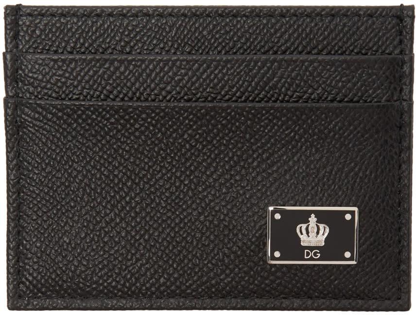 Dolce and Gabbana Black Crown Cardholder