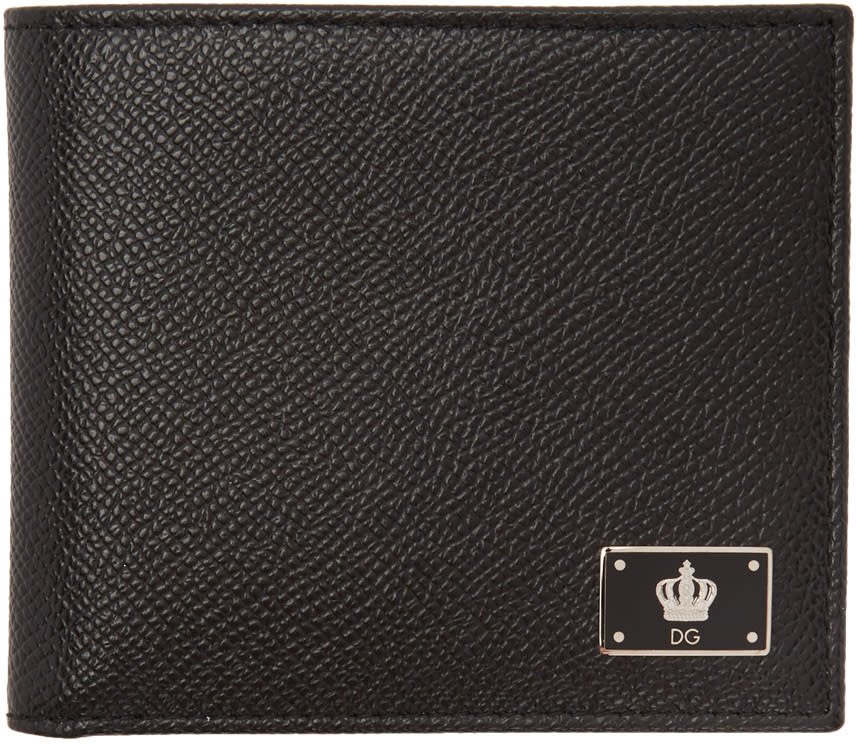 Dolce and Gabbana Black Crown Wallet