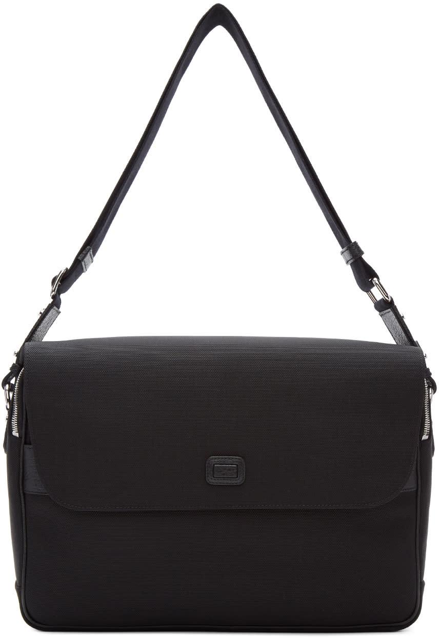 Image of Dolce and Gabbana Black Canvas Messenger Bag