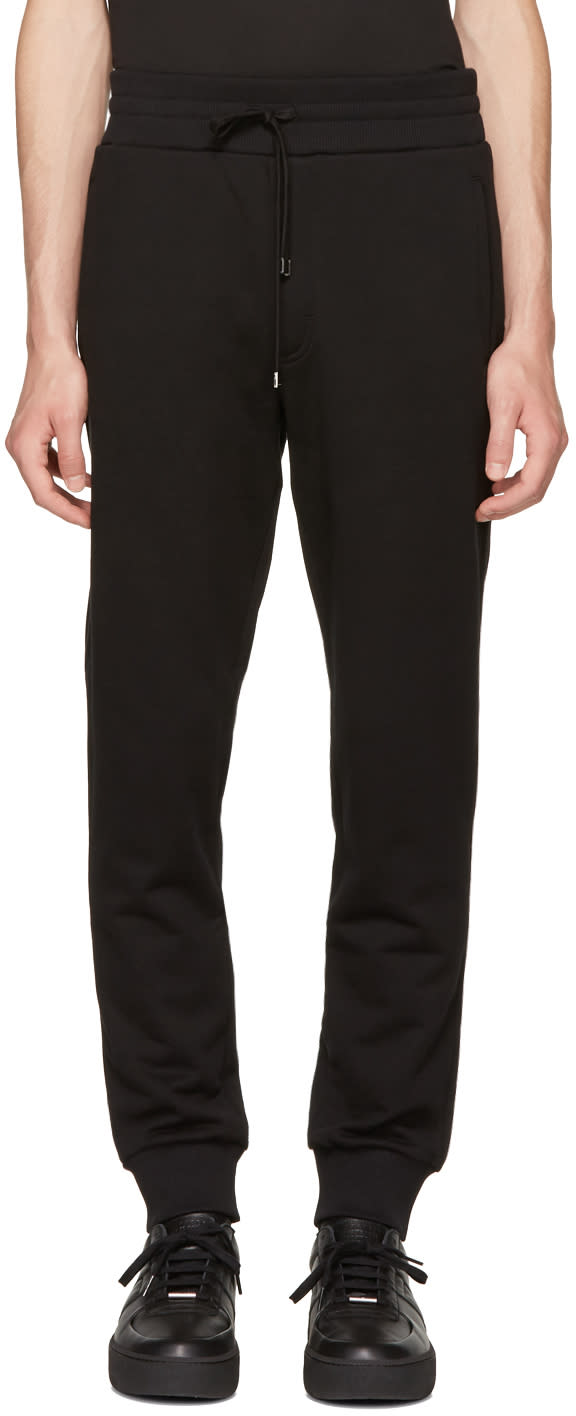 Image of Dolce and Gabbana Black Bee Lounge Pants