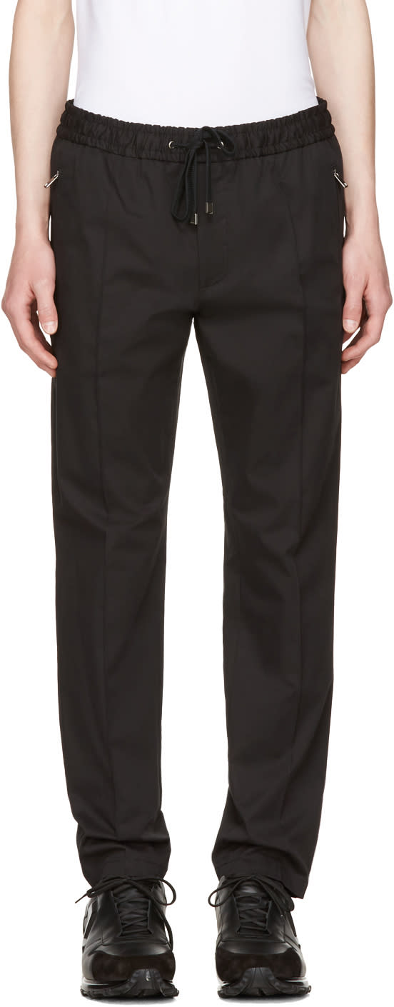 Dolce and Gabbana Black Tapered Trousers