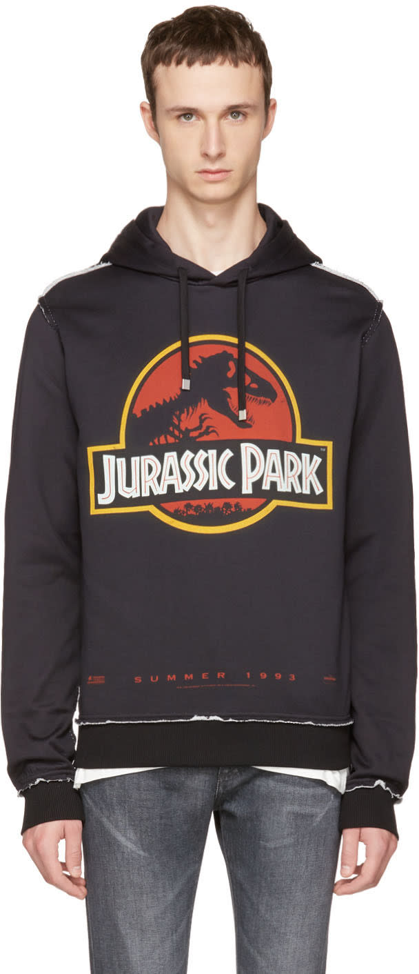 Dolce and Gabbana Black jurassic Park Hoodie