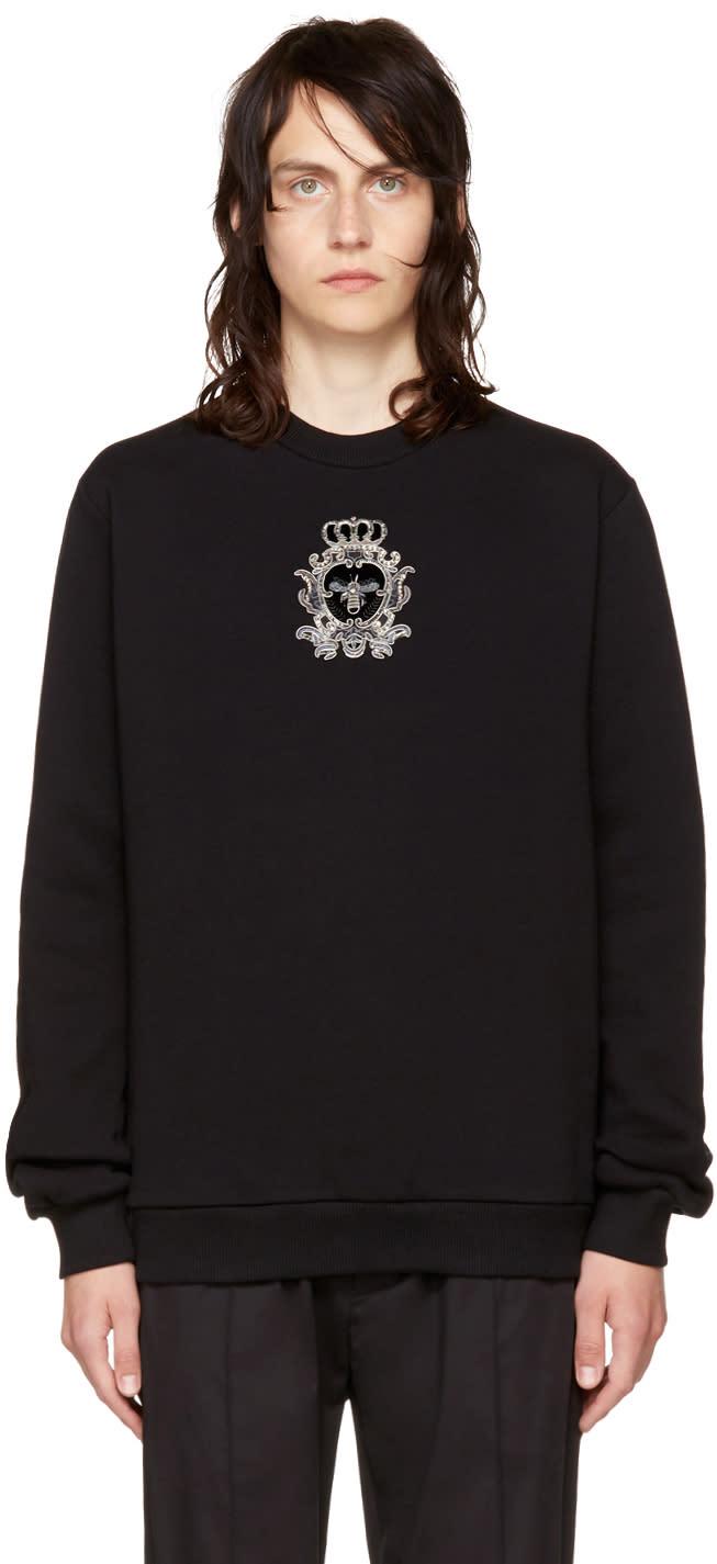 Image of Dolce and Gabbana Black Bee Sweatshirt