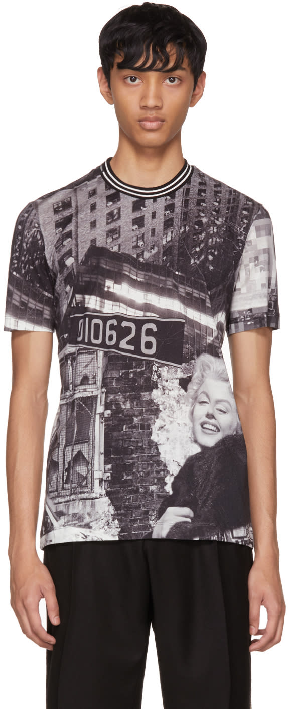 Image of Dolce and Gabbana Black 010626 Marilyn T-shirt
