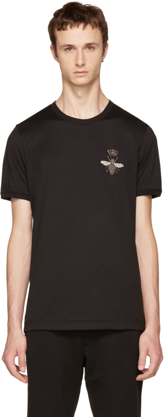 Image of Dolce and Gabbana Black Bee T-shirt