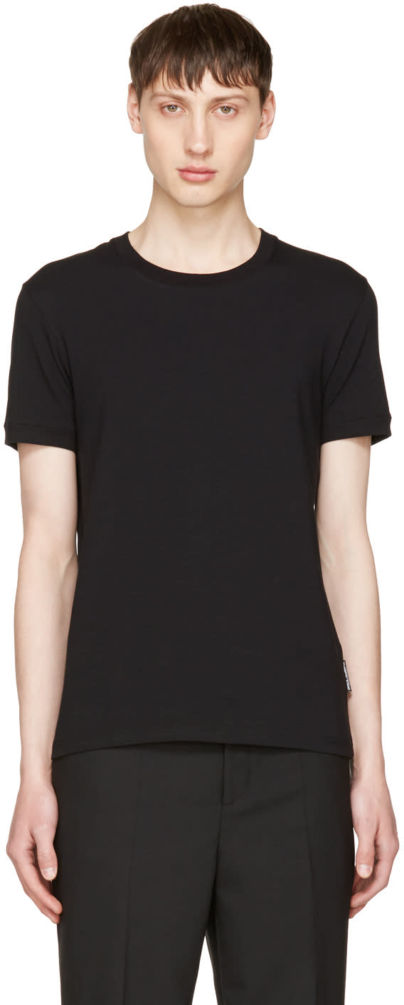 Dolce and Gabbana Black Pure R-neck T-shirt
